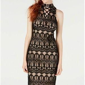 Crisscross Lace Midi Dress